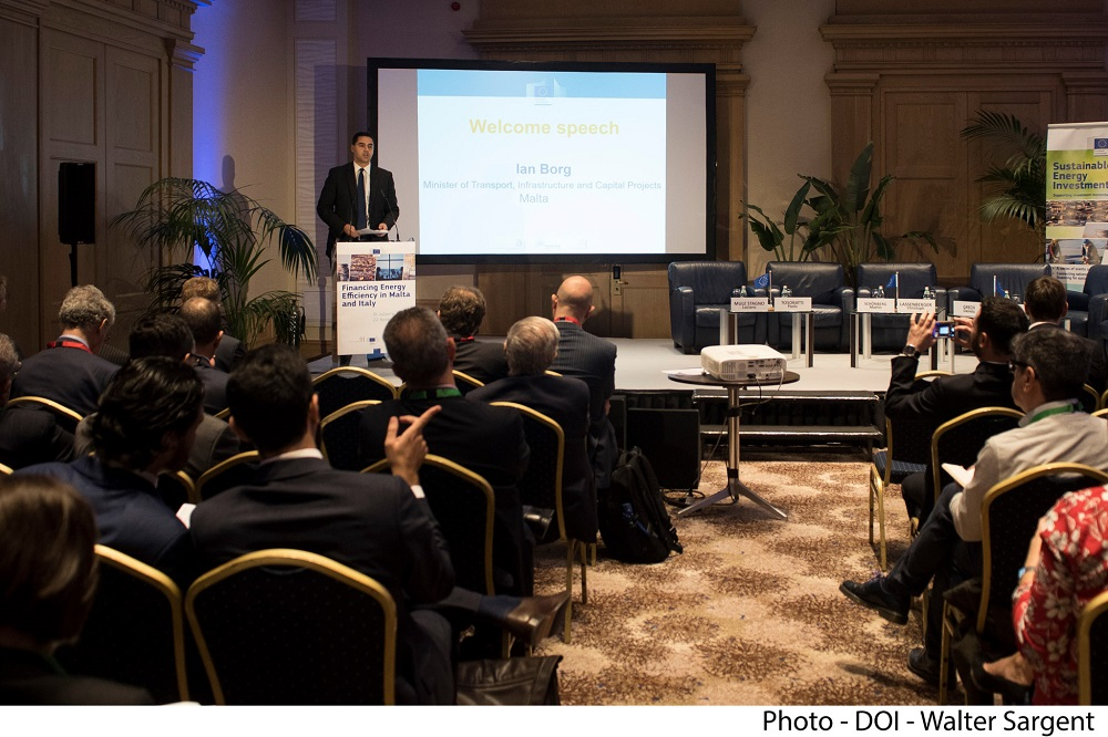 PRESS RELEASE BY THE MINISTRY FOR TRANSPORT, INFRASTRUCTURE AND CAPITAL PROJECTS  Financing Energy Efficiency in Malta – speech by Minister Ian Borg