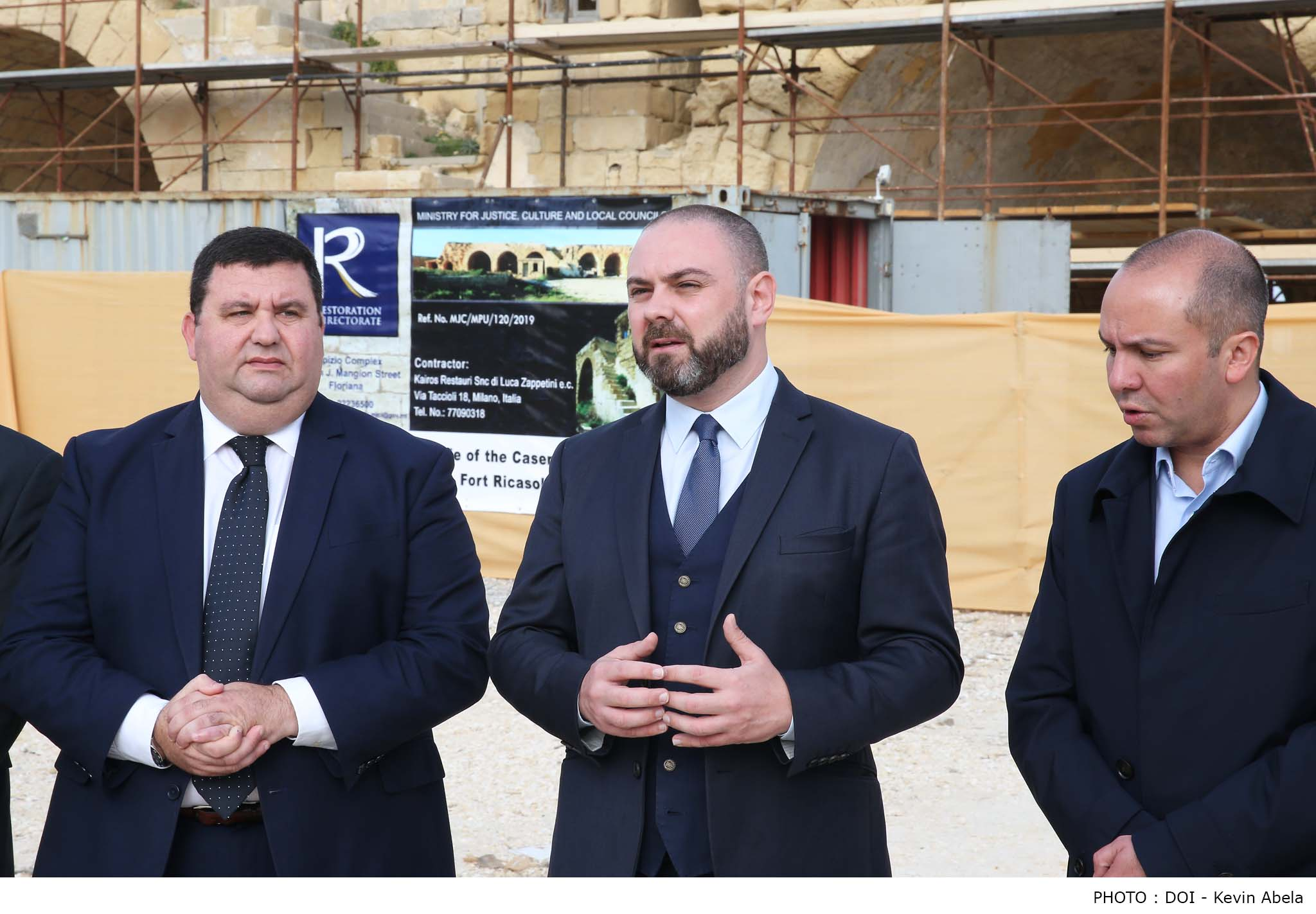 PRESS RELEASE BY THE MINISTRY FOR JUSTICE, CULTURE AND LOCAL GOVERNMENT AND THE MALTA FILM COMMISSION Fort Ricasoli sites to undergo restoration
