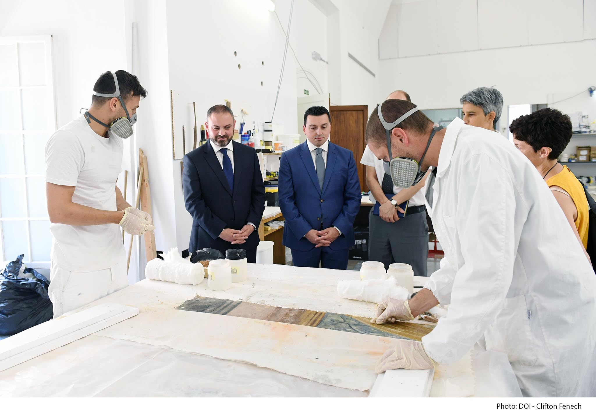 PRESS RELEASE BY THE MINISTRY FOR JUSTICE, CULTURE AND LOCAL GOVERNMENT AND THE PARLIAMENTARY SECRETARIAT FOR EUROPEAN FUNDS AND SOCIAL DIALOGUE: Restoration works at the Grand Master's Palace moving ahead