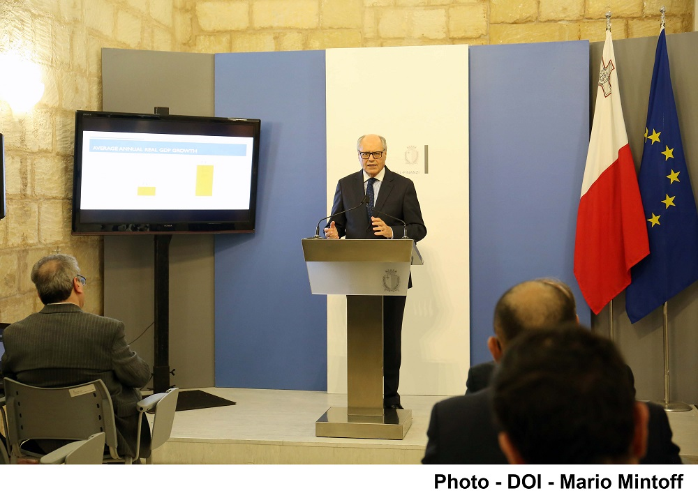 PRESS RELEASE BY THE MINISTRY FOR FINANCE: Malta continues to be one of the fastest growing economies in the EU