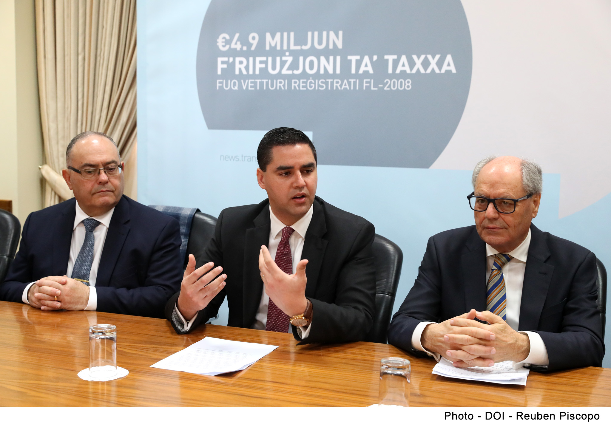PRESS RELEASE BY THE MINISTRY FOR FINANCE AND BY THE MINISTRY FOR TRANSPORT, INFRASTRUCTURE AND CAPITAL PROJECTS: €23.6 million given back to almost 29,000 vehicle owners for extra tax charged during years 2004 and 2008