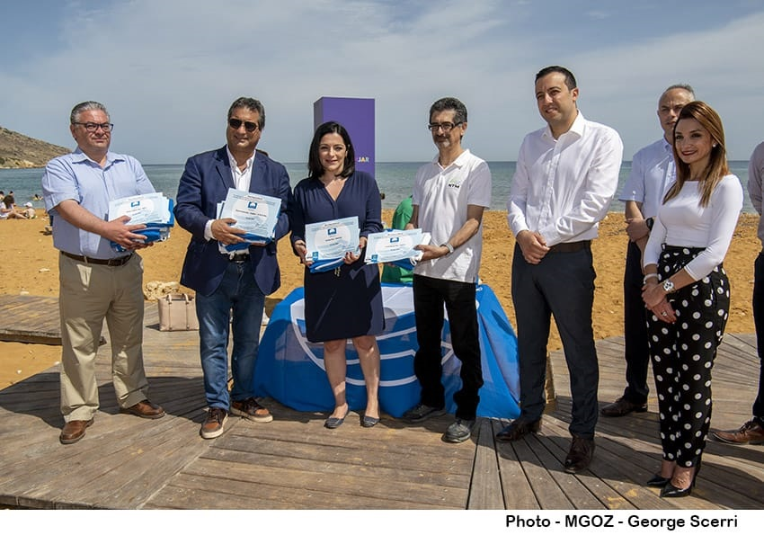 PRESS RELEASE BY THE MINISTRY FOR TOURISM AND CONSUMER PROTECTION AND THE MINISTRY FOR GOZO: Blue Flag raised at Ramla Bay