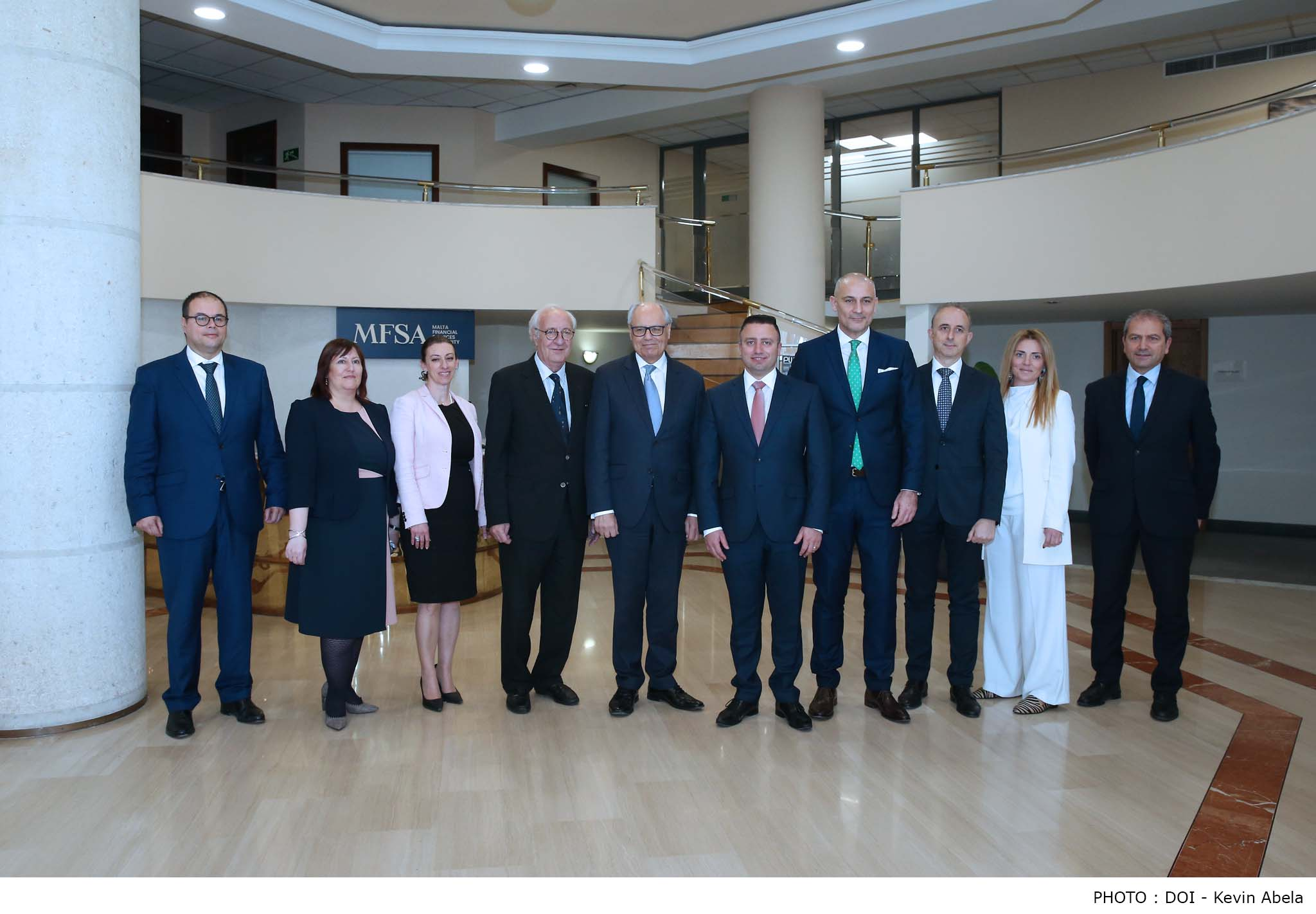 ​Minister for Finance and Financial Services Edward Scicluna and Parliamentary Secretary for Financial Services and Digital Economy Clayton Bartolo paid a courtesy visit to the Malta Financial Services Authority (MFSA) on 4th March 2019