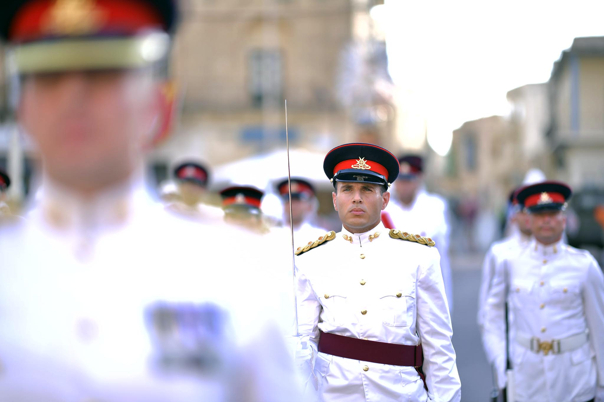 Victory Day celebrations – The Guard of Honour and the Armed Forces of Malta Band in Xagħra, Gozo